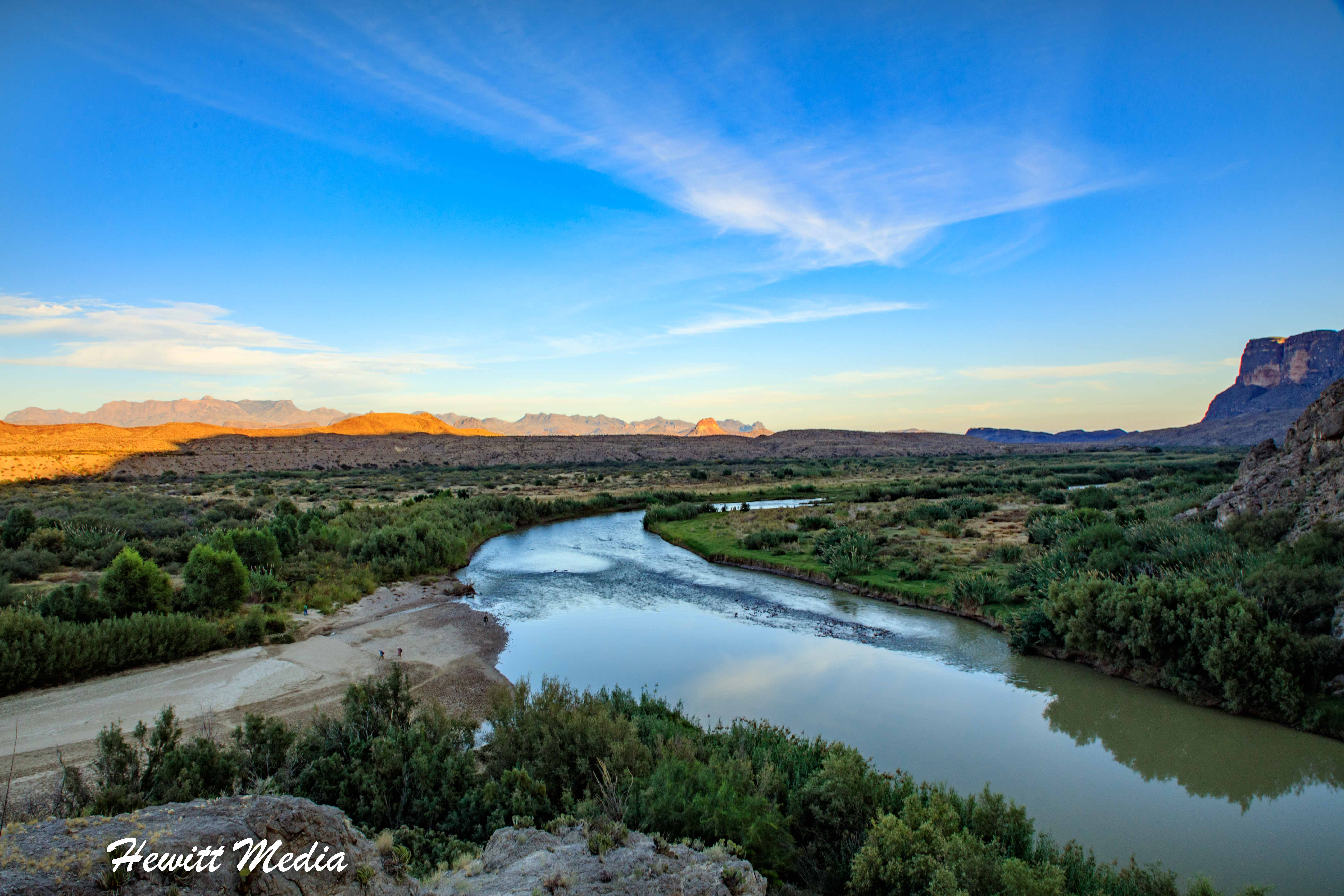 The Rio Grande River near Santa Elena Canyon