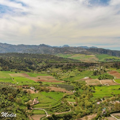View from Alameda del Tajo in Ronda, Spain