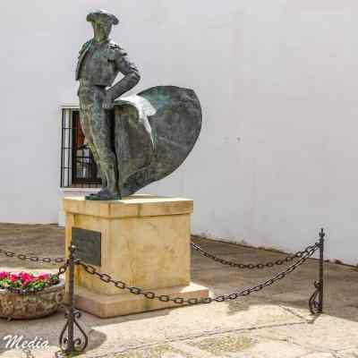 Statue outside the Plaza de Toros in Ronda, Spain