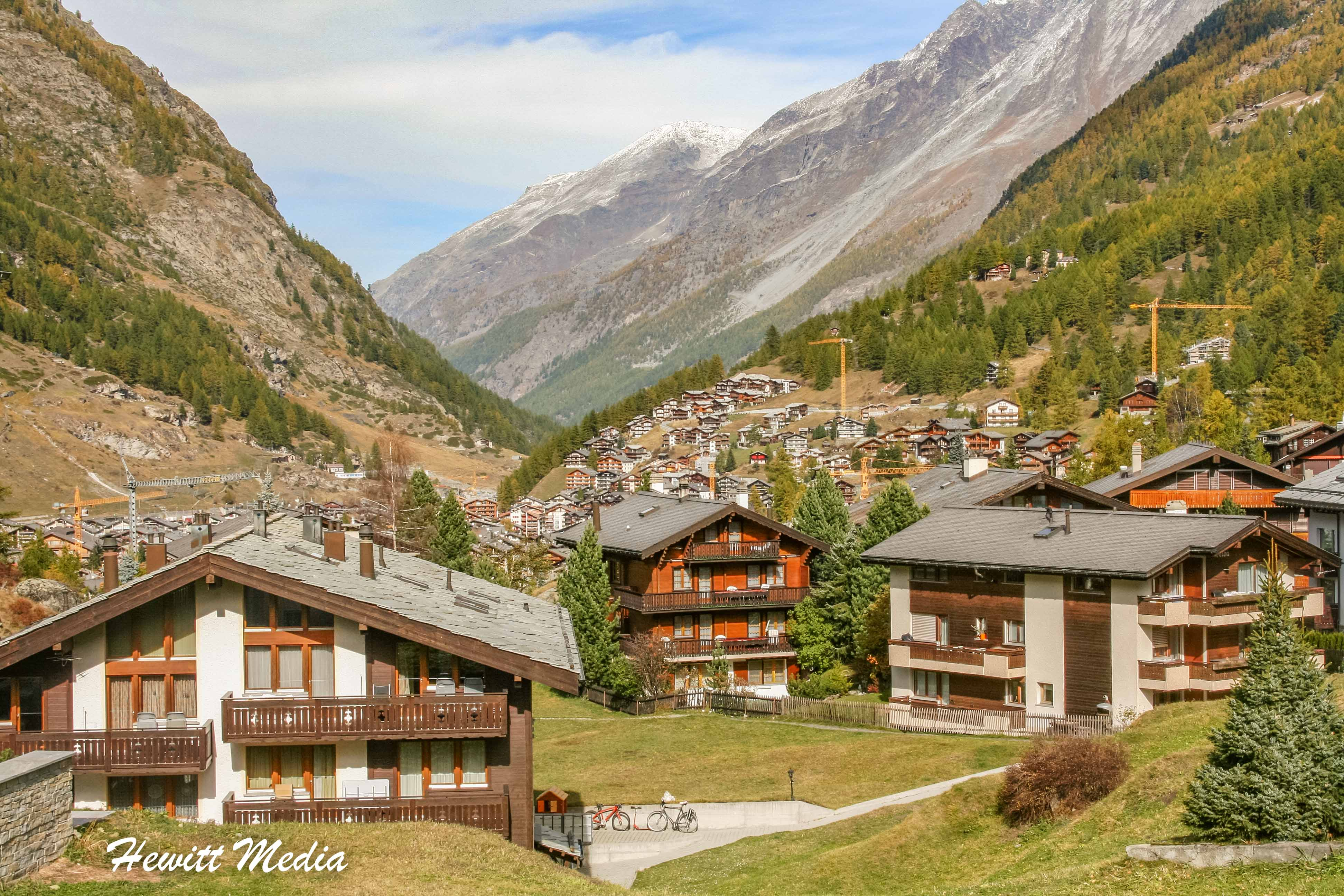 Houses on outskirts of Zermatt