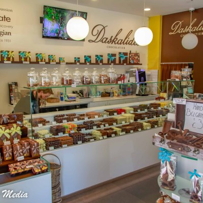 Chocolate store in Ghent, Belgium