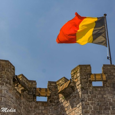 Flag on top of the Gravensteen