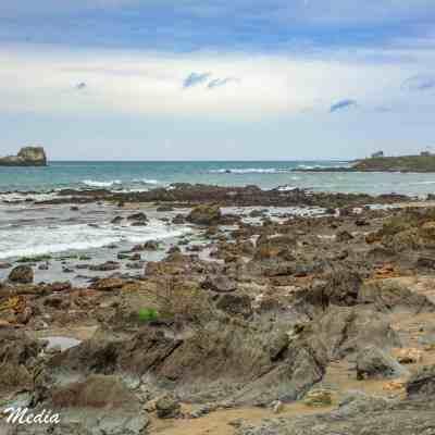 The rocky coast near Point Piedras Blancas