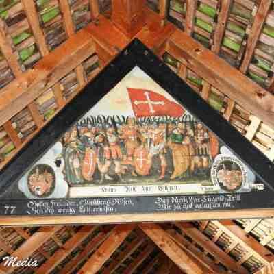 Paintings inside the Chapel Bridge