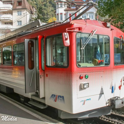 Trains are a great way to get around in Lucerne