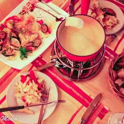 An authentic Fondue dinner