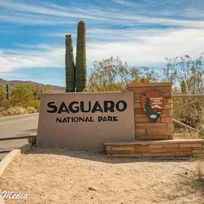 Entrance to Saguaro National Park