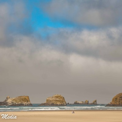 The beautiful coastline of Canon Beach
