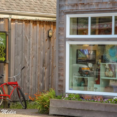 A neat bike shop in Canon Beach