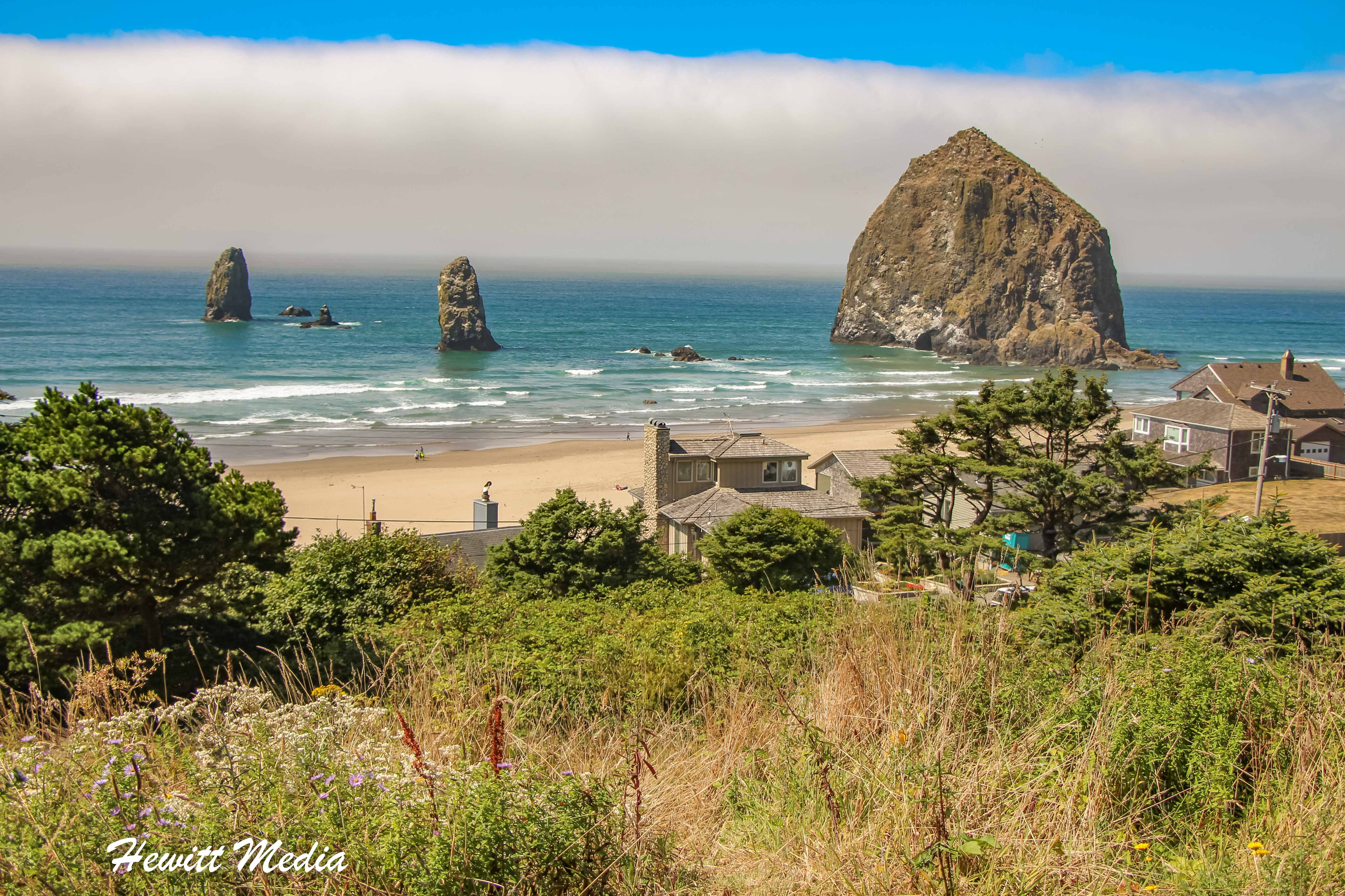 The Haystack Rock off Canon Beach's coast