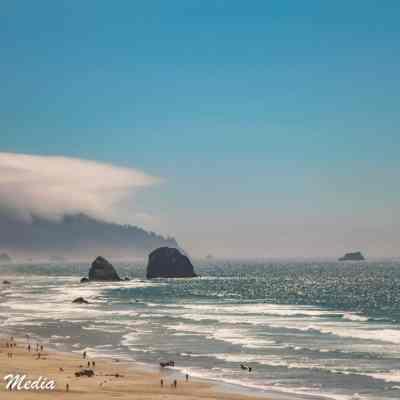 The beautiful coastline near Canon Beach