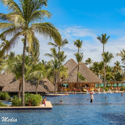 The pool at our resort in Punta Cana
