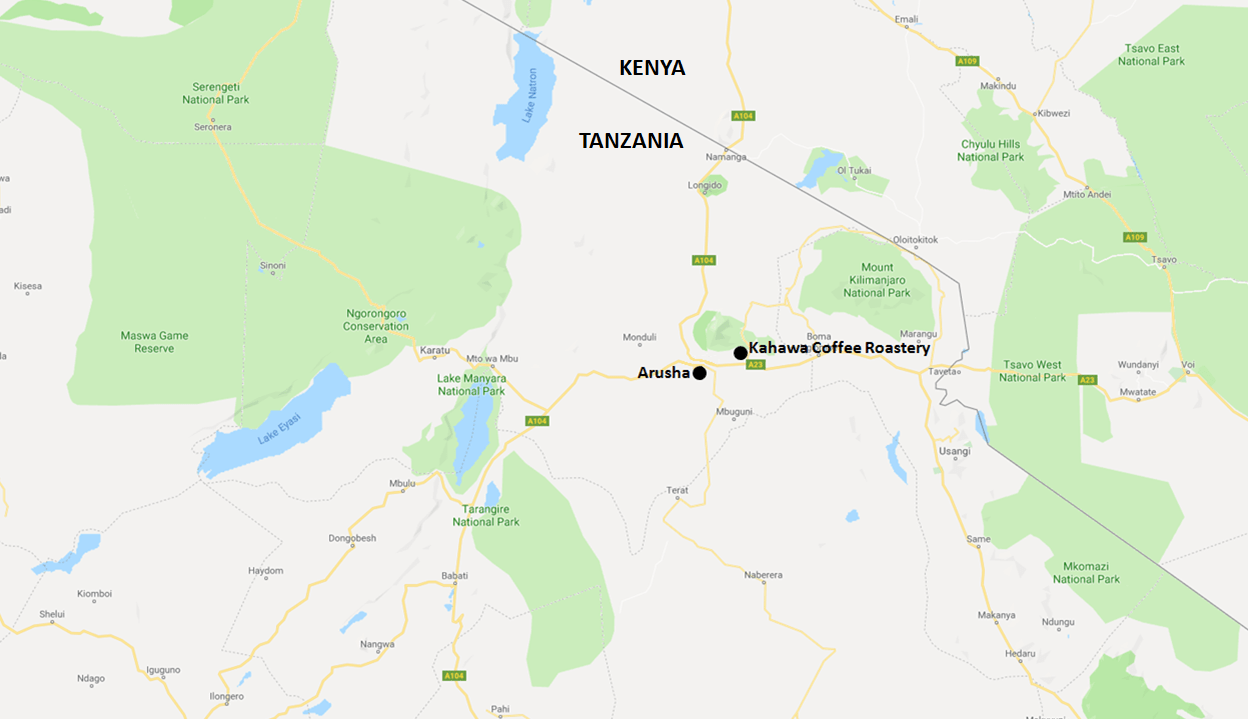 Kahawa Coffee Roastery Map