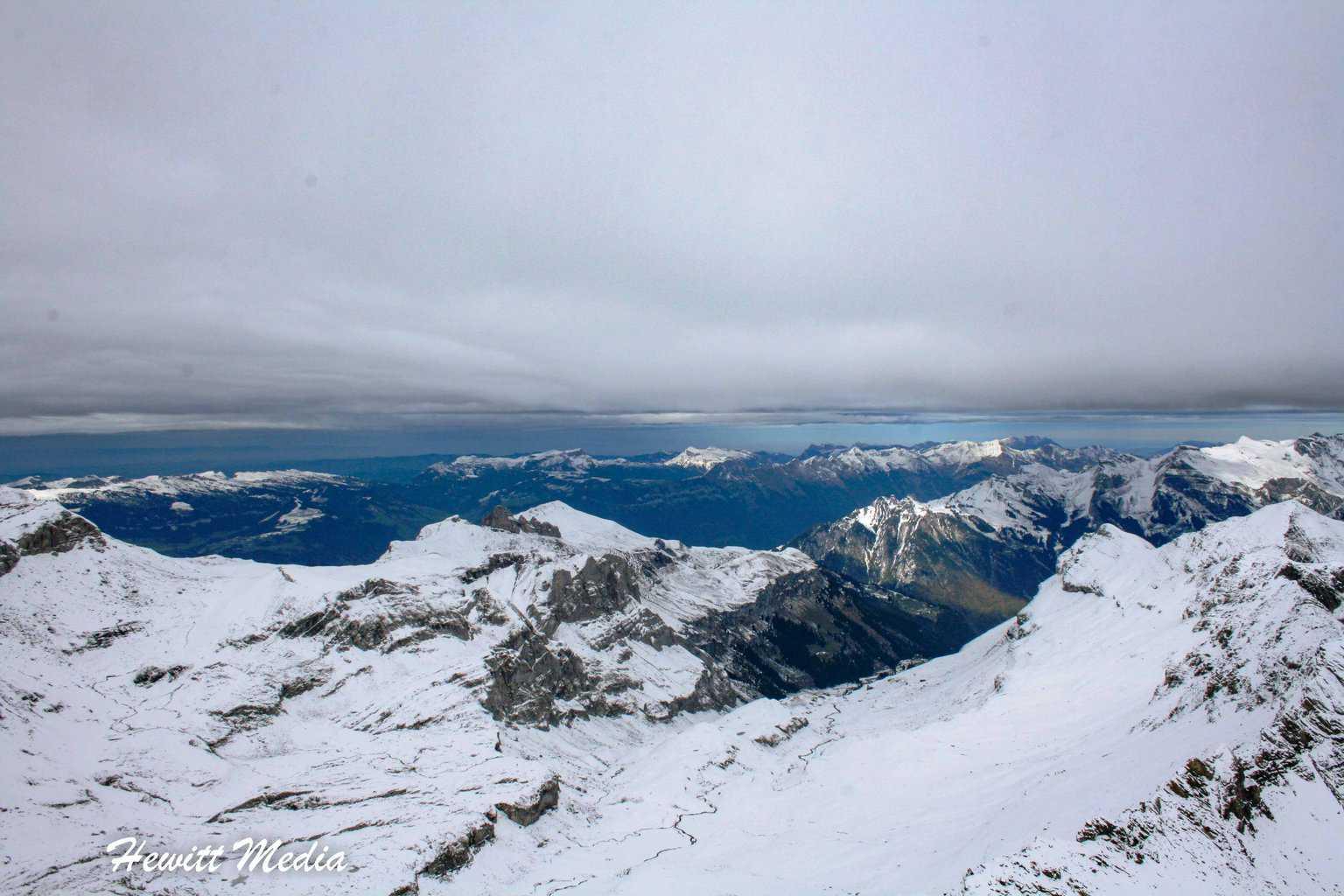 View from schilthornbahn