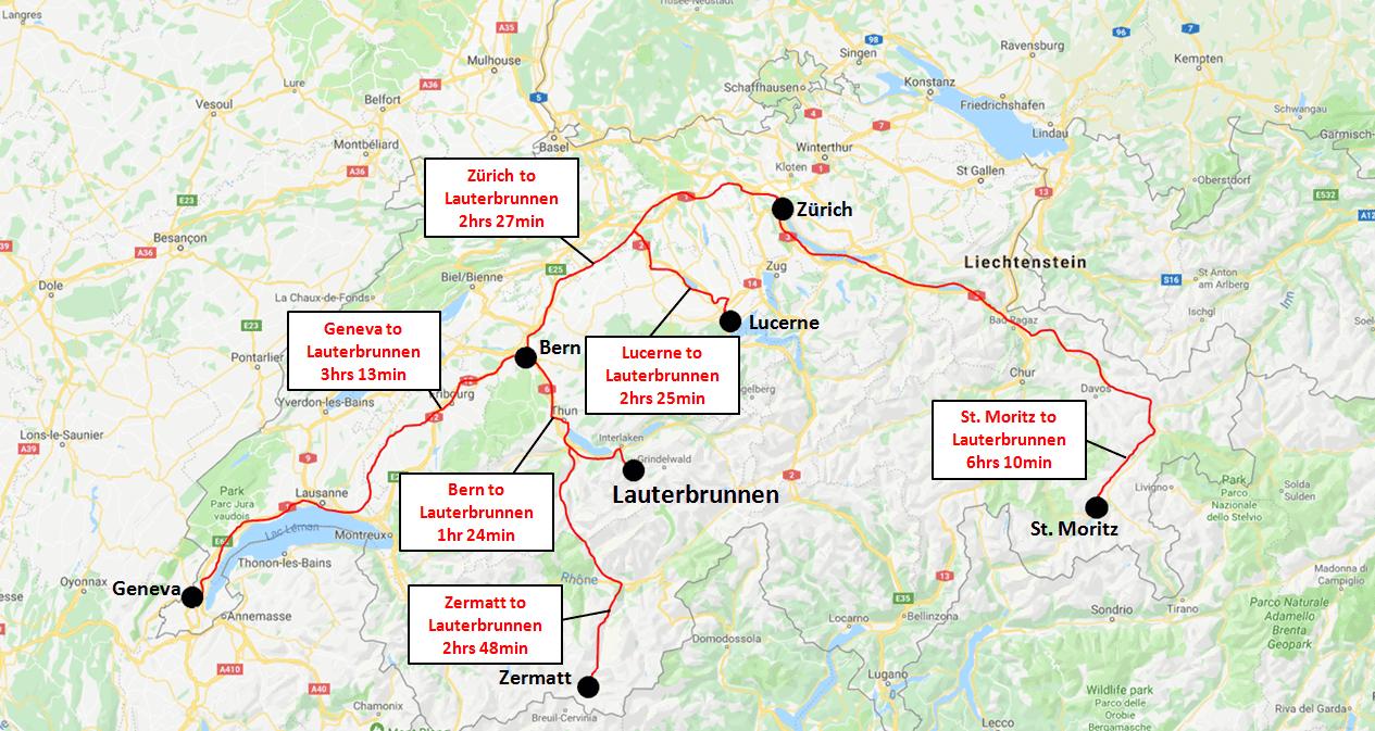 Lauterbrunnen Train Map