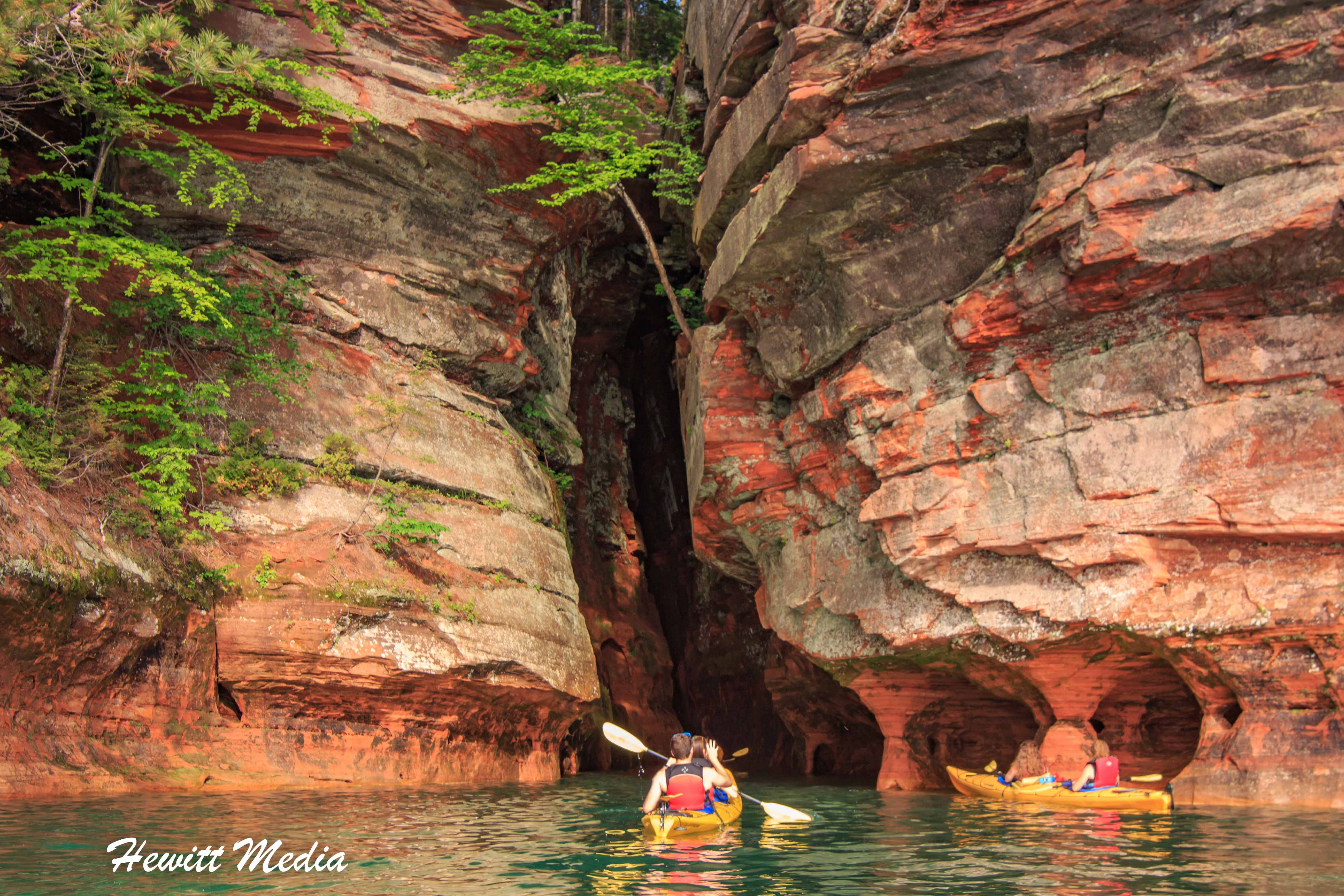 Sea caves in the Apostle Islands
