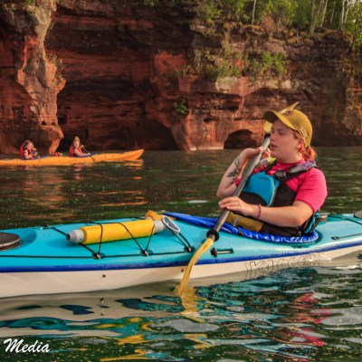 Our guide on our Apostle Islands Kayak Tour