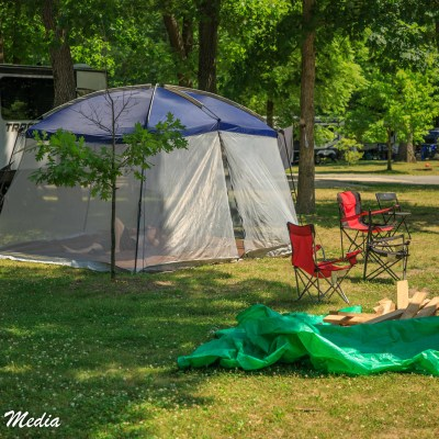 Camping in Indiana Dunes