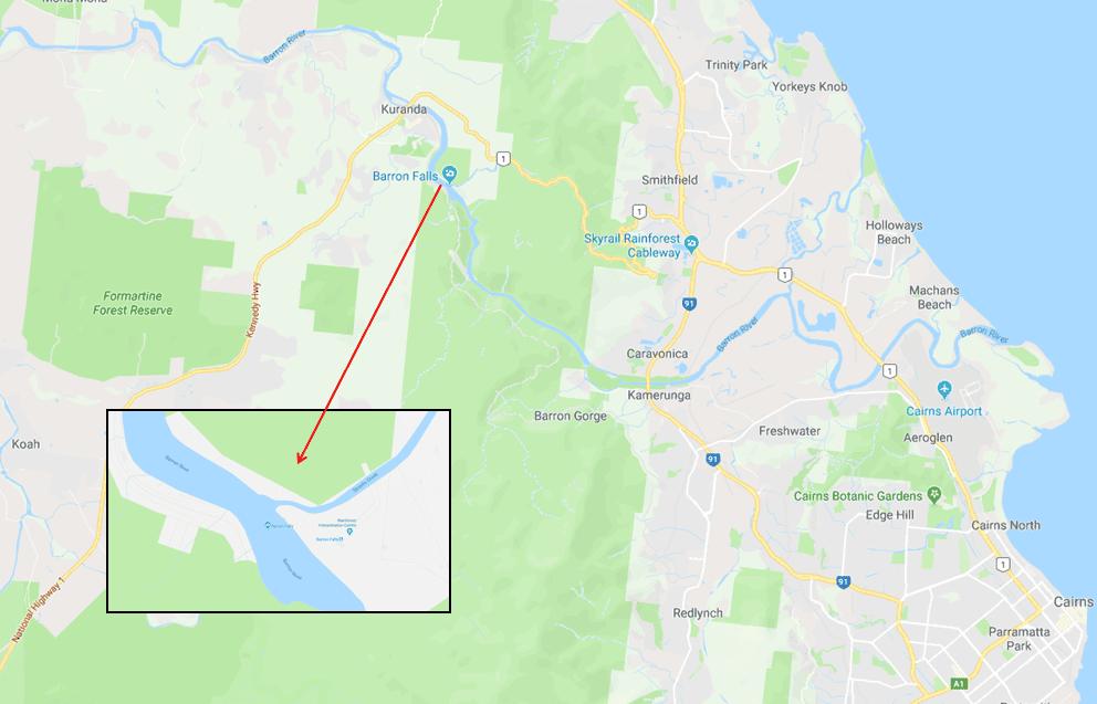 Barron Falls Kuranda - Photo Map