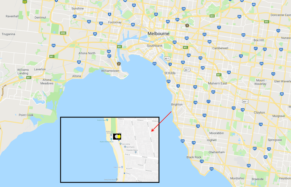 Brighton Beach Boxes - Photo Map