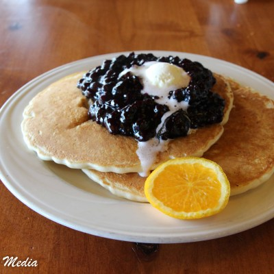 Blueberry Pancakes at Leek's Restaurant