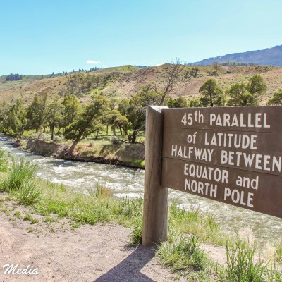 45th Parallel in Yellowstone National Park