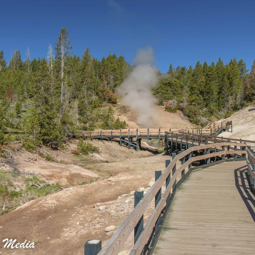 Walkway thru thermal features in Yellowstone
