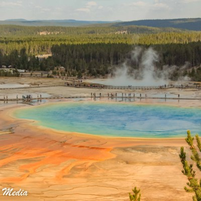 Grand Prismatic Hot Spring in Yellowstone National Park