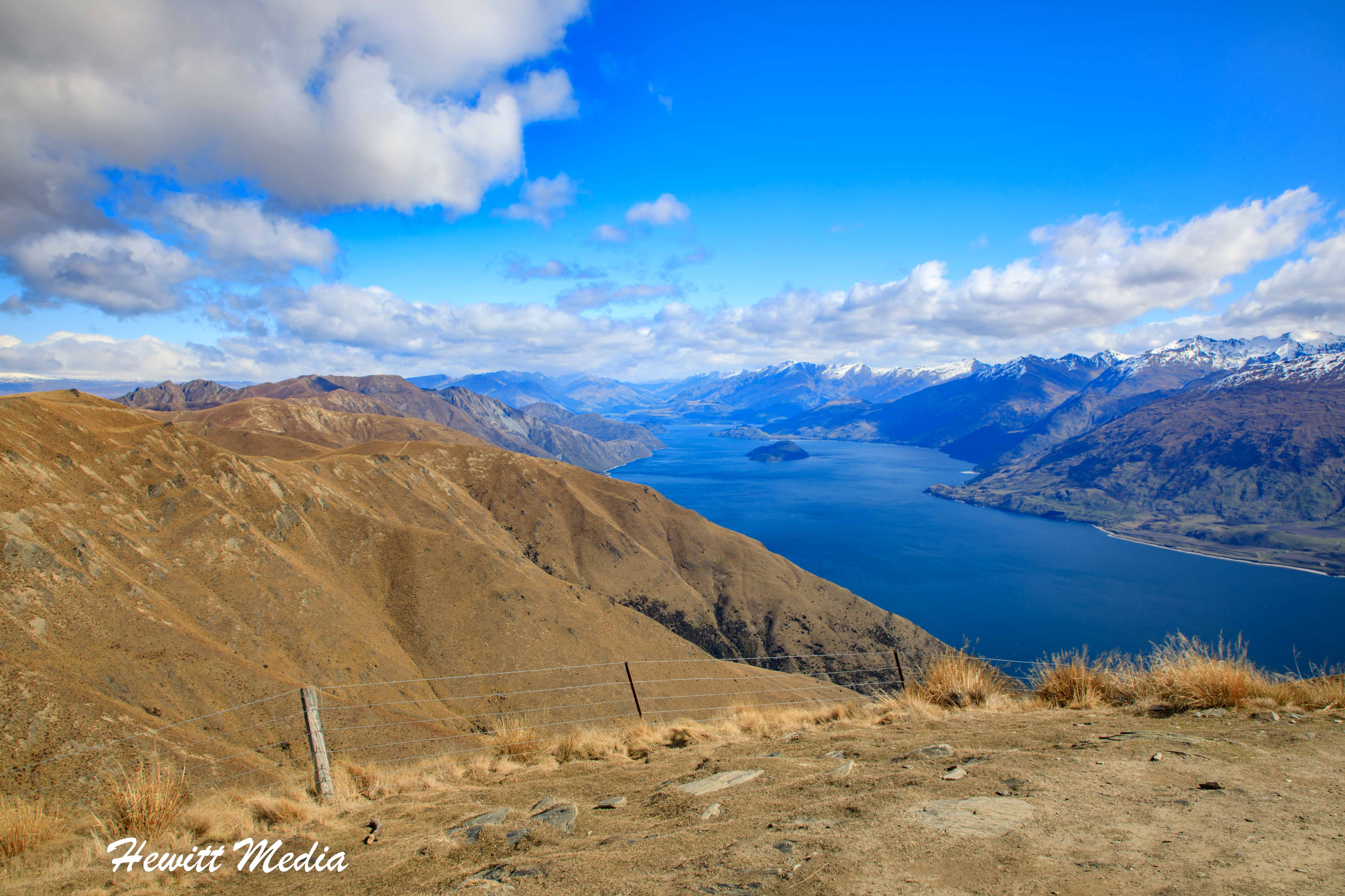 View of Lake Hawea from the Isthmus Peak Track