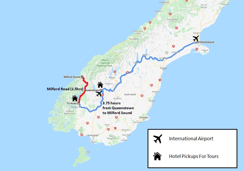 Milford Sound Tour Map