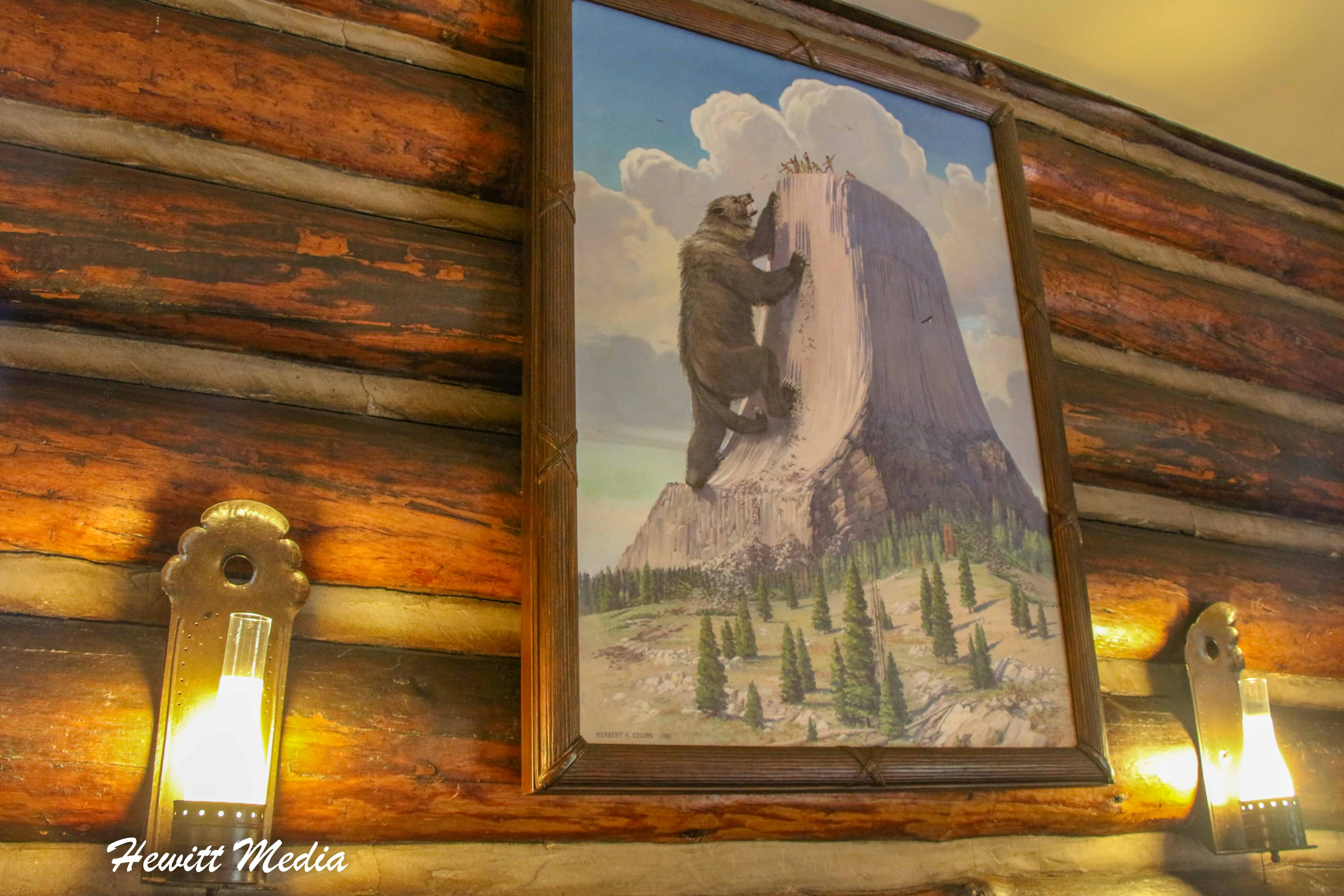 Painting of Native American Oral Tradition Regarding the Devil's Tower National Monument
