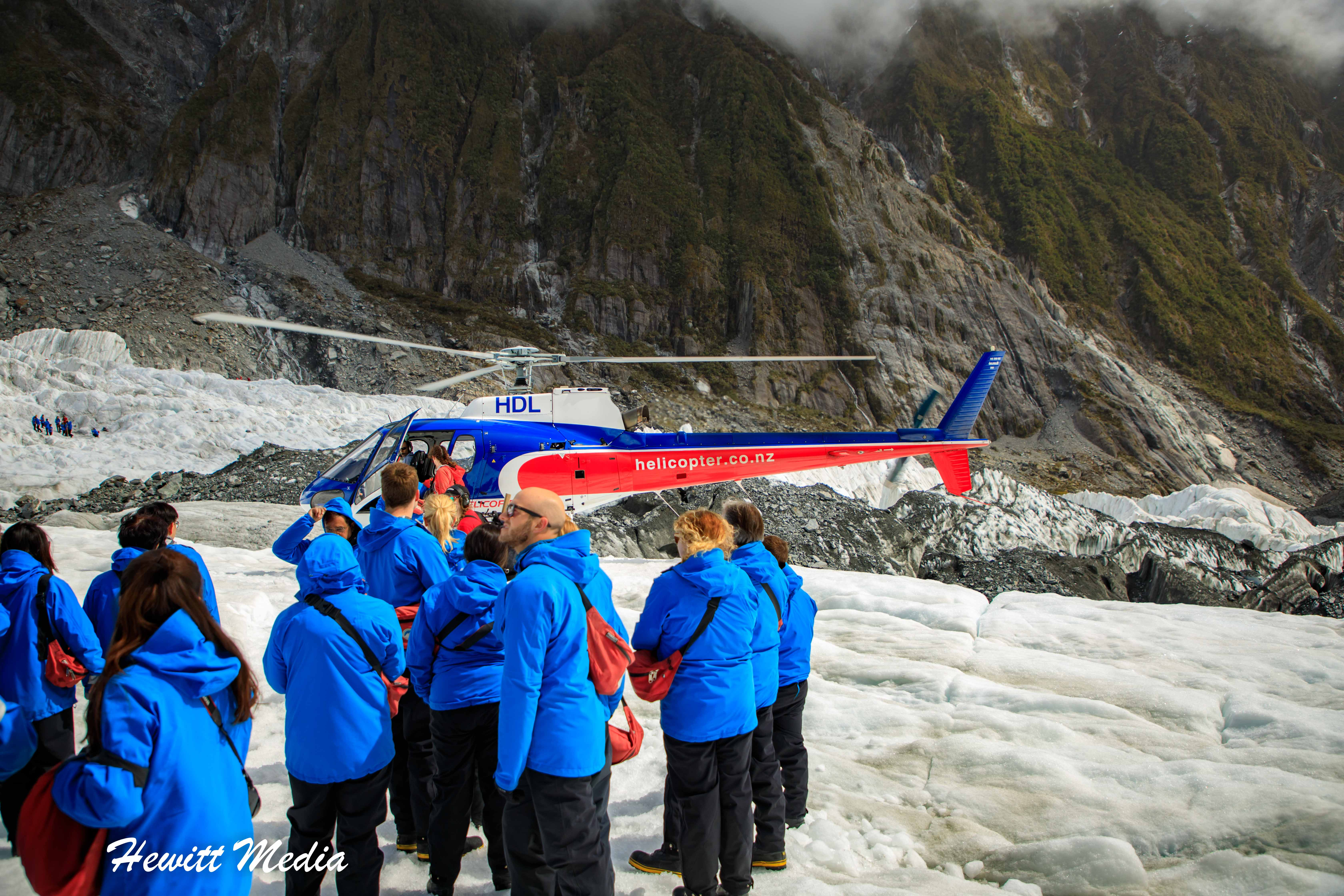 Just landed on Franz Josef Glacier