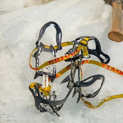 Crampons and Ice Axe from our Heli-Hike