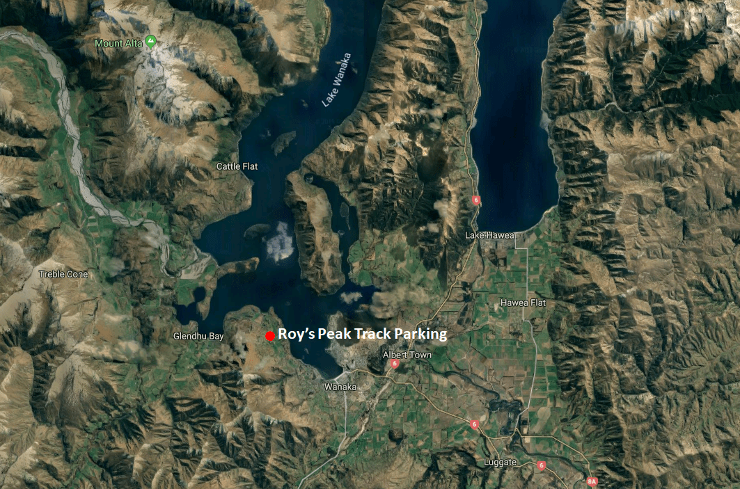 How to Get to Roy's Peak Track Map