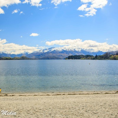 Kayak on the beach at Lake Wanaka