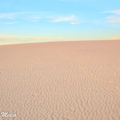 The dunes at White Sands National Monument