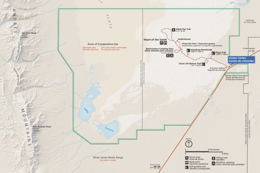 White Sands National Monument Park Map - Preview