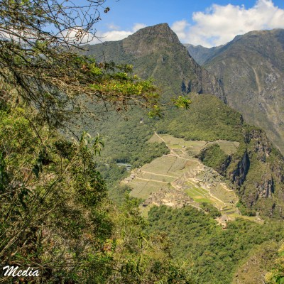 The ruins viewed from the summit of Huayna Picchu