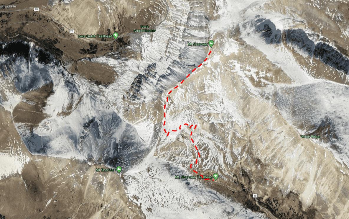 Mount Sherman Trail Map