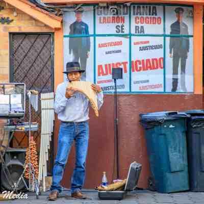 Street Musician in Quito, Ecuador