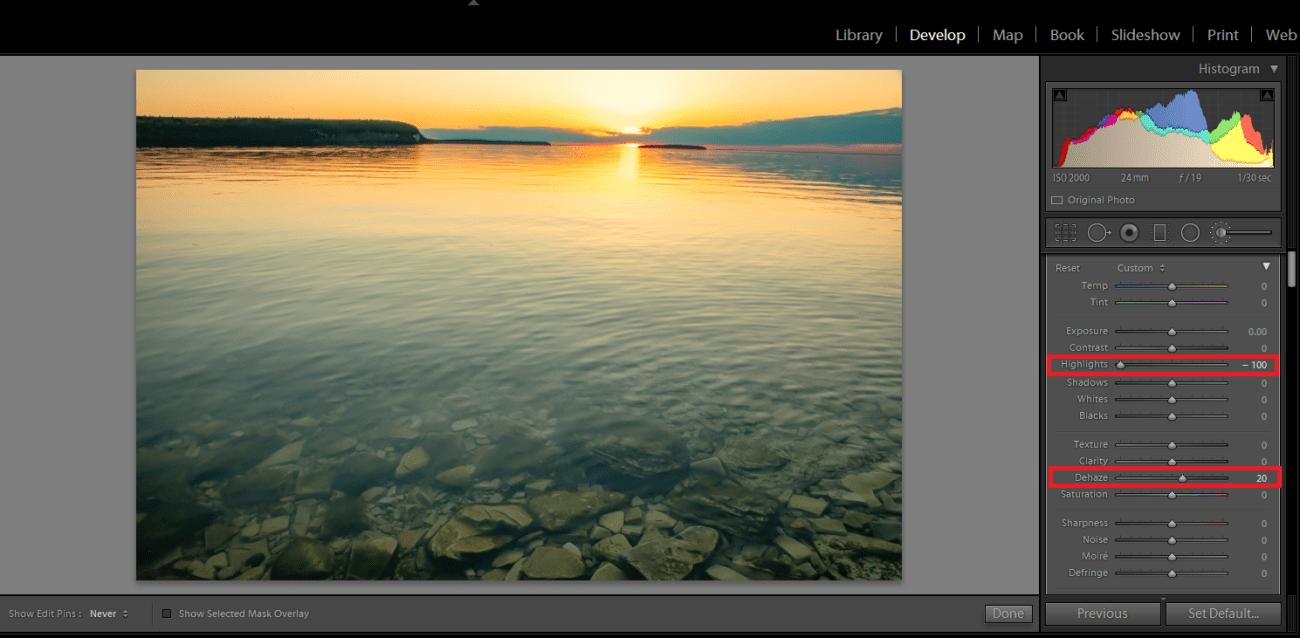 Lightroom - Minimize Glare and Reflections