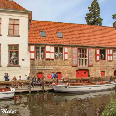 Boat on the Canals of Bruges