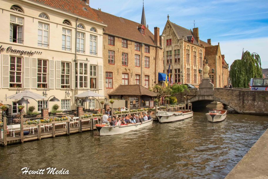 Boats on the Canals of Bruges