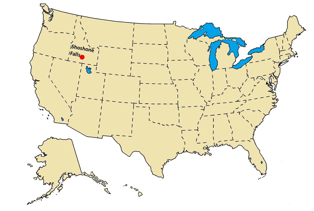 Shoshone Falls US Map