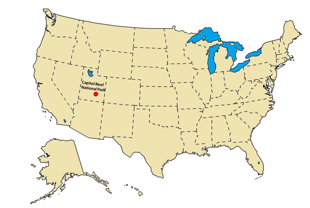 Capitol Reef National Park Location Map