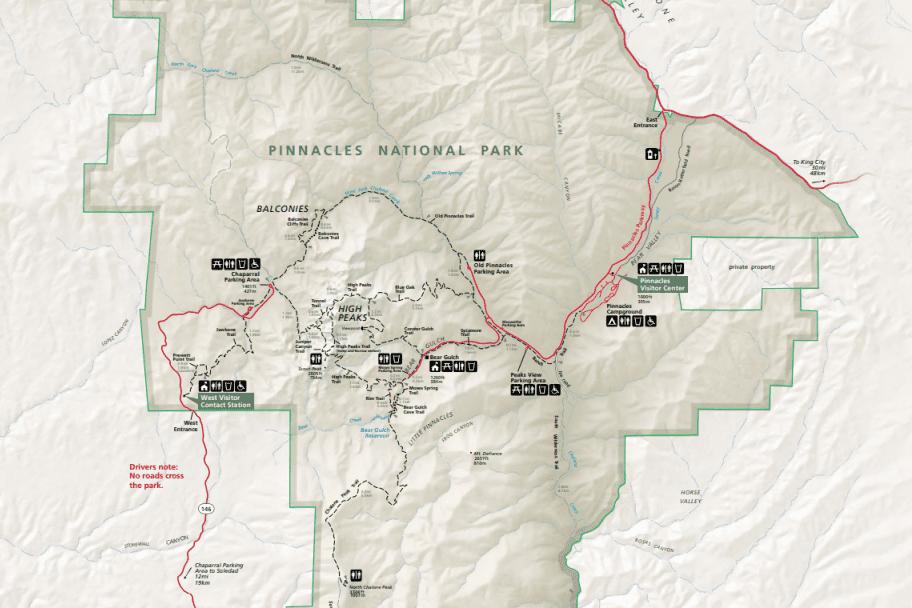 Pinnacles National Park Guide - Park Map