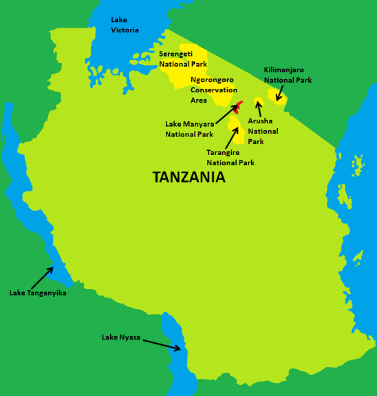 Lake Manyara National Park Map