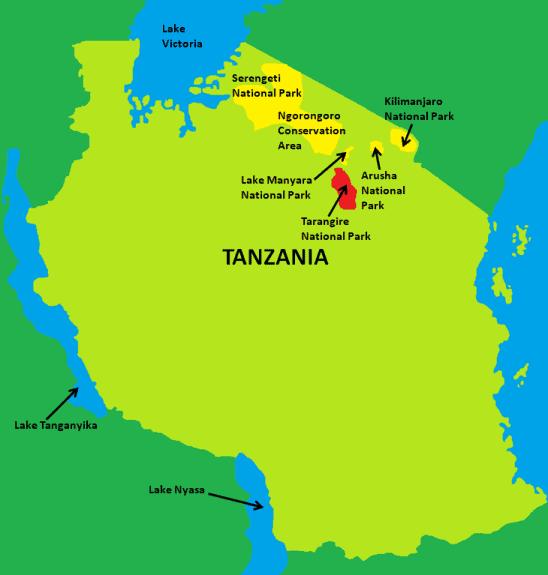 Tarangire National Park Map