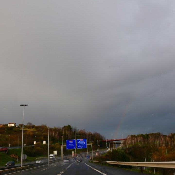 rainbow motorway bilbao