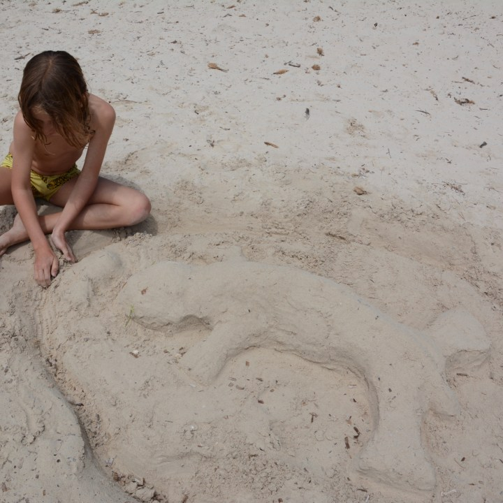 cala turqueta menorca sand castle